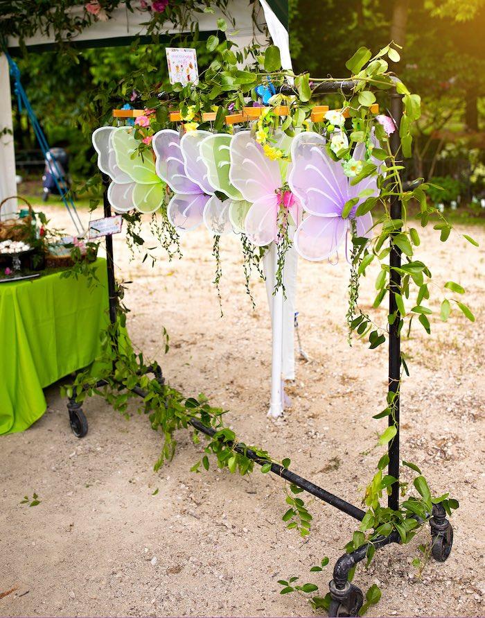Fairy Wings from a Fairy Fabulous Birthday Party on Kara's Party Ideas | KarasPartyIdeas.com (14)