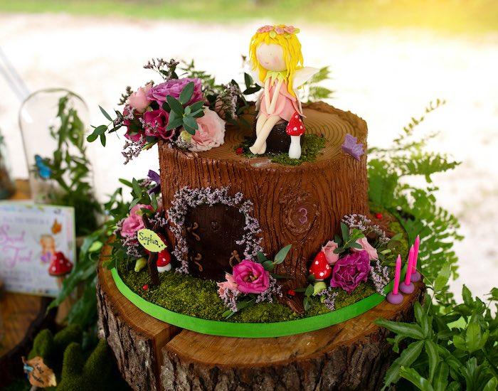 Fairy Cake from a Fairy Fabulous Birthday Party on Kara's Party Ideas | KarasPartyIdeas.com (13)