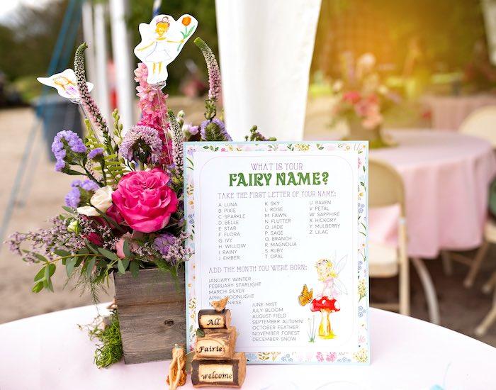 Fairy Name from a Fairy Fabulous Birthday Party on Kara's Party Ideas | KarasPartyIdeas.com (12)