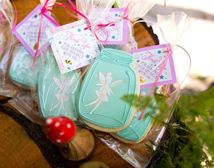 Fairy Jar Cookie Favors from a Fairy Fabulous Birthday Party on Kara's Party Ideas | KarasPartyIdeas.com (44)