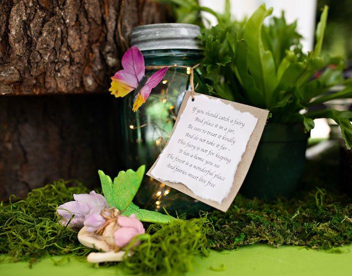 Twinkle Light Fairy Jar from a Fairy Fabulous Birthday Party on Kara's Party Ideas | KarasPartyIdeas.com (42)