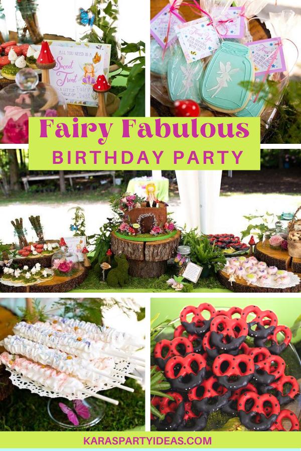 Fairy Fabulous Birthday Party via Kara's Party Ideas - KarasPartyIdeas.com