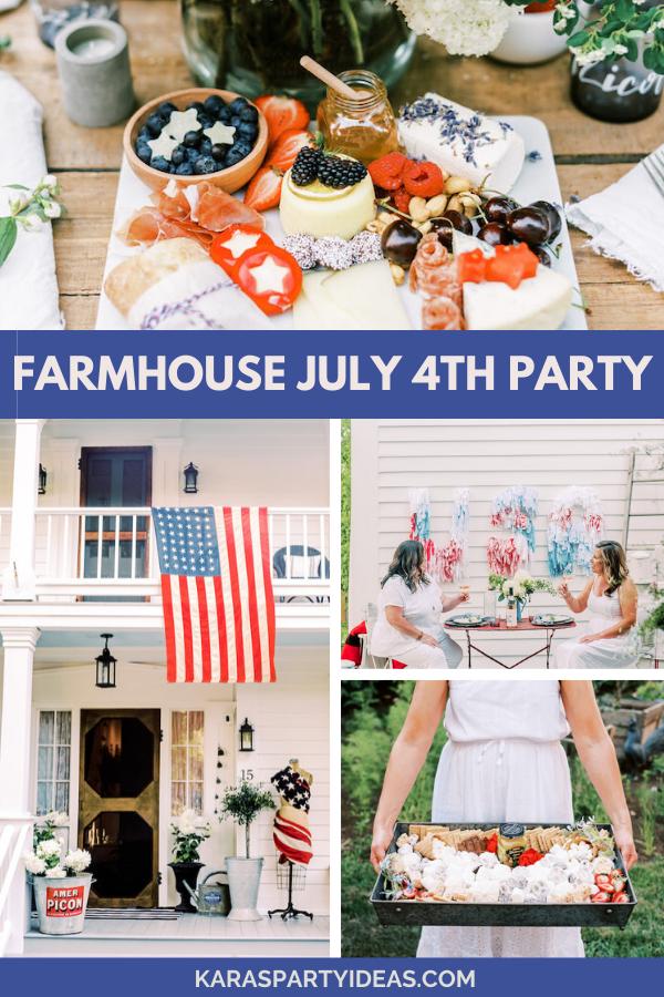 Farmhouse July 4th Party via Kara's Party Ideas - KarasPartyIdeas.com