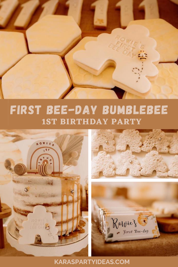 First Bee-Day Bumblebee 1st Birthday Party via Kara's Party Ideas - KarasPartyIdeas.com