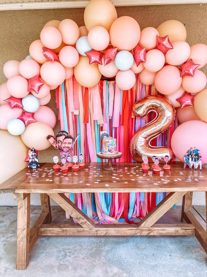 NSYNC Themed Dessert Table from a Girly NSYNC Birthday Party on Kara's Party Ideas | KarasPartyIdeas.com (9)