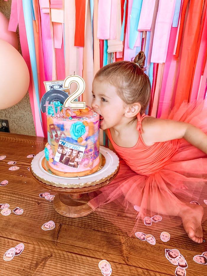 NSYNC Themed Birthday Cake from a Girly NSYNC Birthday Party on Kara's Party Ideas | KarasPartyIdeas.com (19)