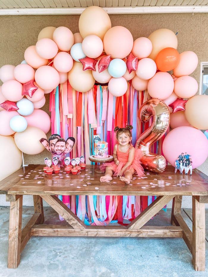 NSYNC Themed Cake Table from a Girly NSYNC Birthday Party on Kara's Party Ideas | KarasPartyIdeas.com (15)