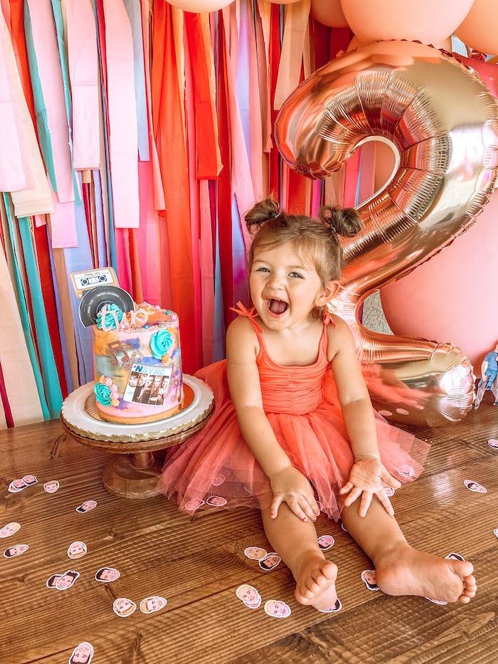 NSYNC Themed Cake Table from a Girly NSYNC Birthday Party on Kara's Party Ideas | KarasPartyIdeas.com (14)