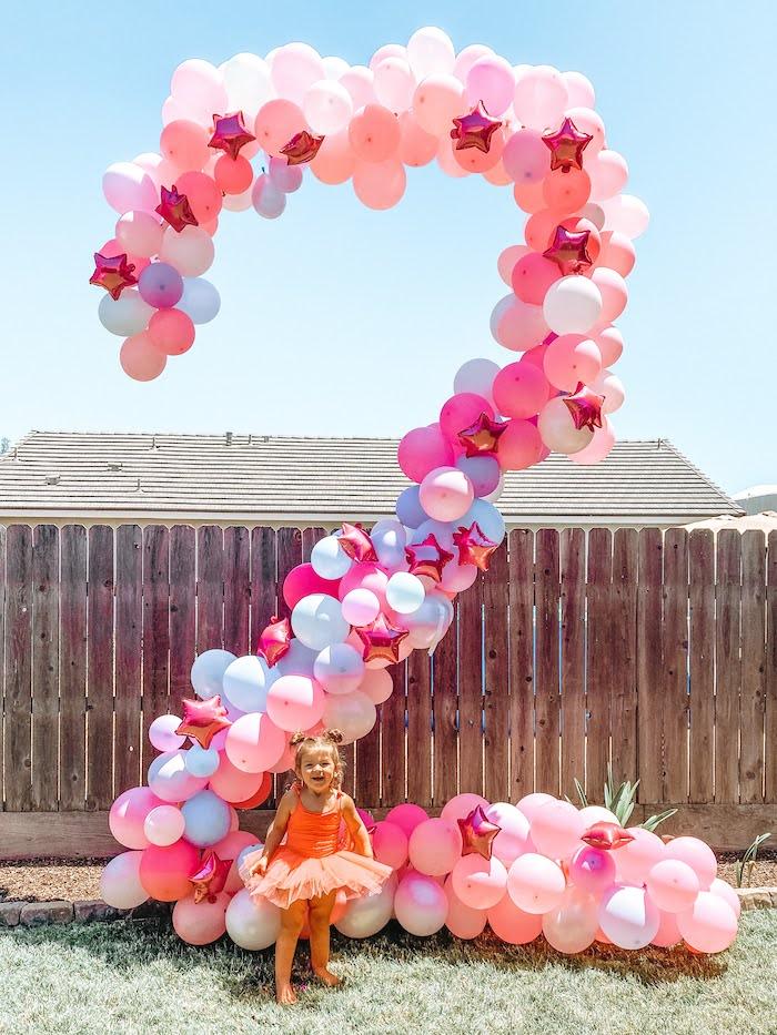 Girly 2 Balloon Install from a Girly NSYNC Birthday Party on Kara's Party Ideas | KarasPartyIdeas.com (13)