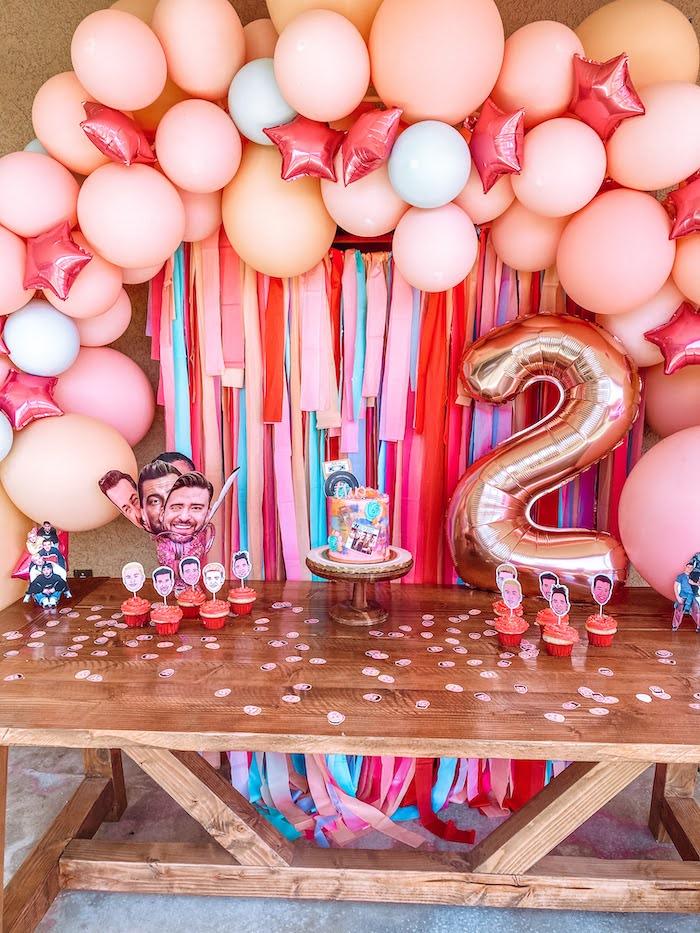 NSYNC Themed Dessert Table from a Girly NSYNC Birthday Party on Kara's Party Ideas | KarasPartyIdeas.com (11)
