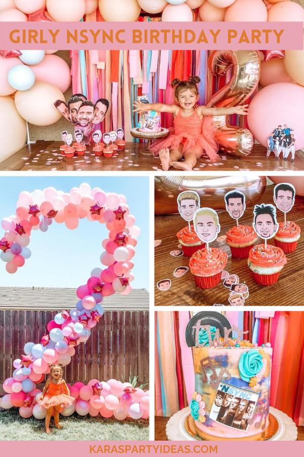 Girly NSYNC Birthday Party via Kara's Party Ideas - KarasPartyIdeas.com