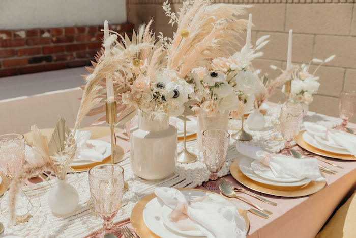 Boho Guest Table from a Gypsy Boho Baby Shower on Kara's Party Ideas | KarasPartyIdeas.com (21)
