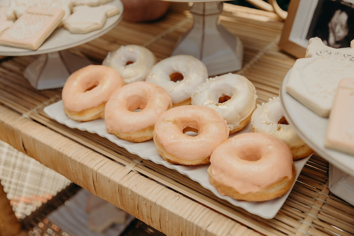 Boho Doughnuts from a Gypsy Boho Baby Shower on Kara's Party Ideas | KarasPartyIdeas.com (14)