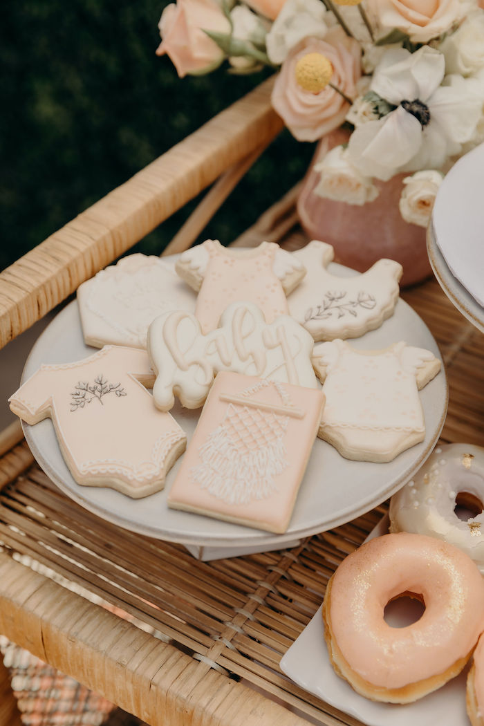 Baby Boho Cookies from a Gypsy Boho Baby Shower on Kara's Party Ideas | KarasPartyIdeas.com (11)