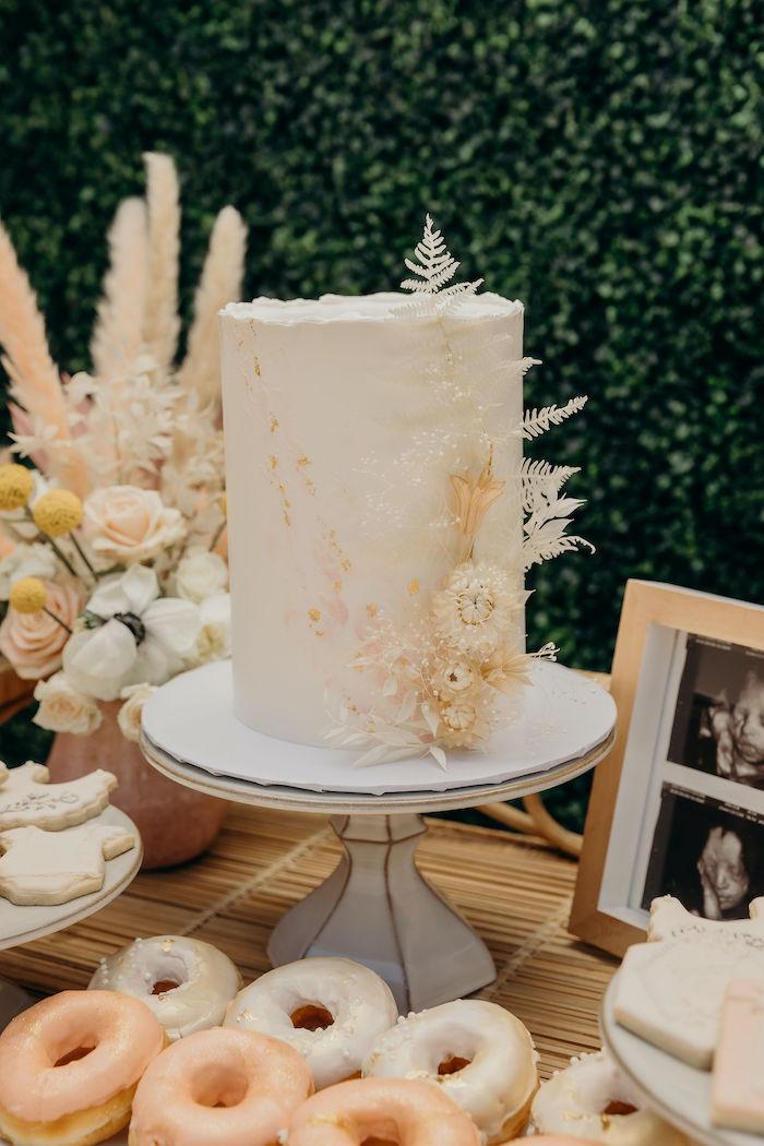 Beautiful Boho-inspired Cake from a Gypsy Boho Baby Shower on Kara's Party Ideas | KarasPartyIdeas.com (10)