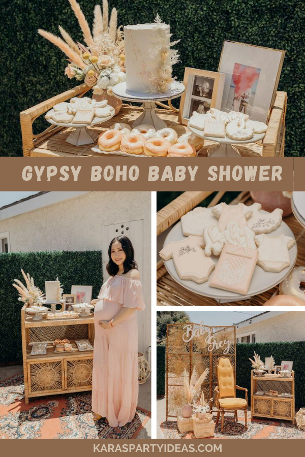 Gypsy Boho Baby Shower via Kara's Party Ideas - KarasPartyIdeas.com