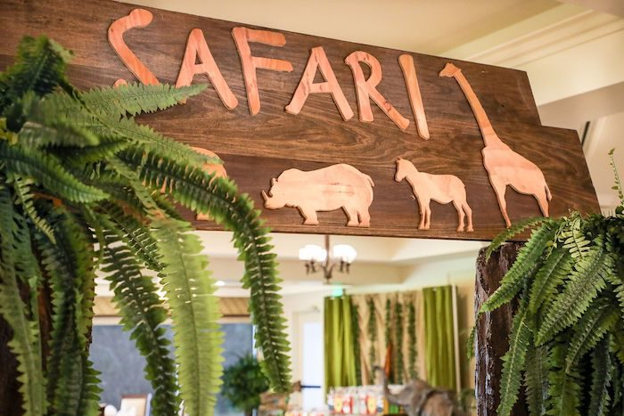 Wood Safari Party Sign from a Jungle Safari Birthday Party on Kara's Party Ideas | KarasPartyIdeas.com (39)