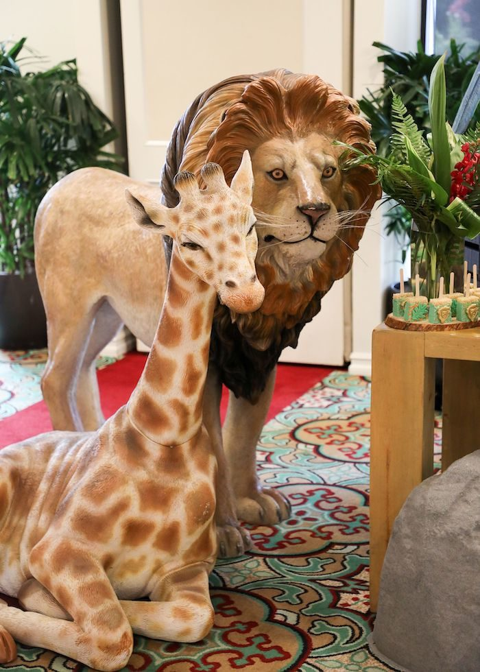 Safari Animal Props from a Jungle Safari Birthday Party on Kara's Party Ideas | KarasPartyIdeas.com (35)