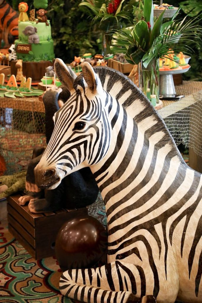 Zebra Prop from a Jungle Safari Birthday Party on Kara's Party Ideas | KarasPartyIdeas.com (25)