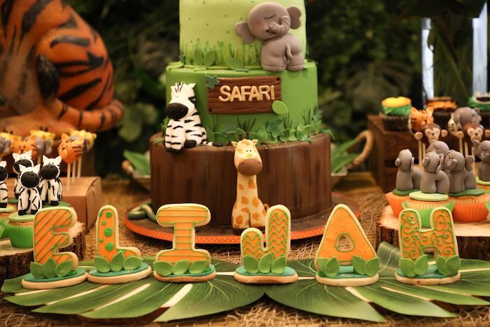 Name Sign Letter Cookies from a Jungle Safari Birthday Party on Kara's Party Ideas | KarasPartyIdeas.com (24)