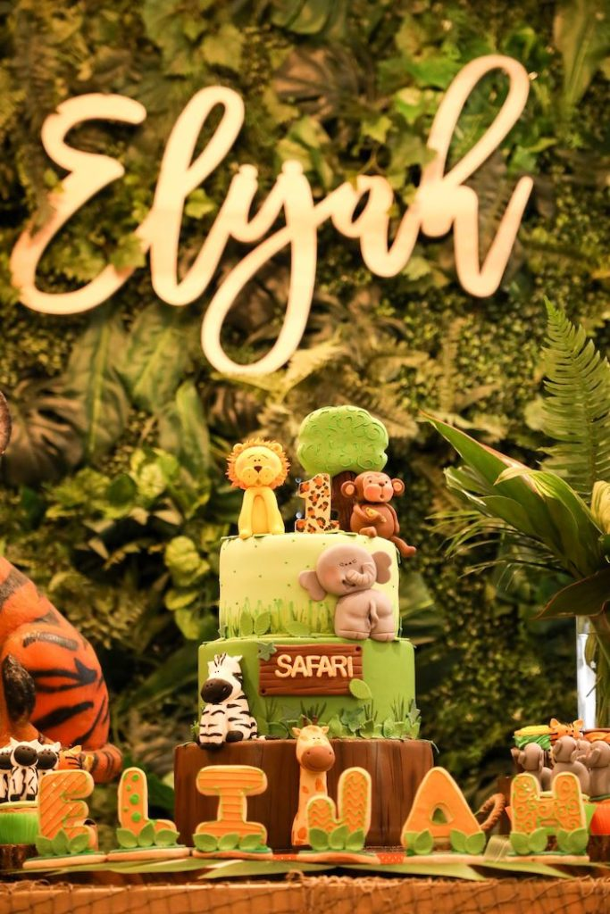 Jungle Safari Themed Birthday Cake from a Jungle Safari Birthday Party on Kara's Party Ideas | KarasPartyIdeas.com (23)