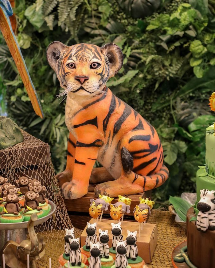 Tiger Prop from a Jungle Safari Birthday Party on Kara's Party Ideas | KarasPartyIdeas.com (22)