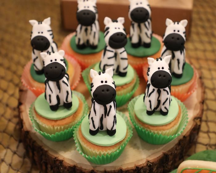 Zebra Cupcakes from a Jungle Safari Birthday Party on Kara's Party Ideas | KarasPartyIdeas.com (20)