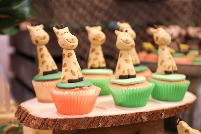 Giraffe Cupcakes from a Jungle Safari Birthday Party on Kara's Party Ideas | KarasPartyIdeas.com (19)