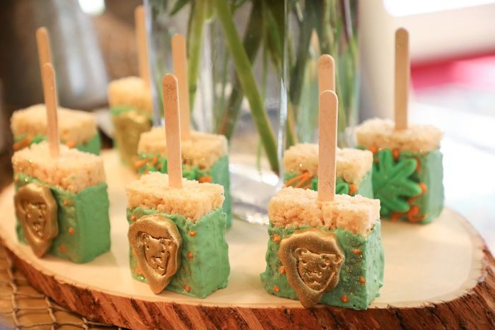 Lion Rice Krispie Treat Pops from a Jungle Safari Birthday Party on Kara's Party Ideas | KarasPartyIdeas.com (18)