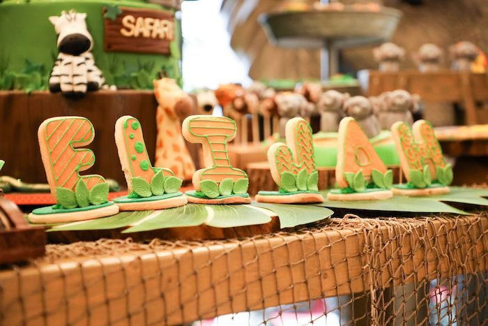 Name Sign Letter Cookies from a Jungle Safari Birthday Party on Kara's Party Ideas | KarasPartyIdeas.com (17)