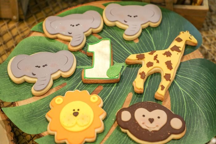 Safari Animal Cookies from a Jungle Safari Birthday Party on Kara's Party Ideas | KarasPartyIdeas.com (11)