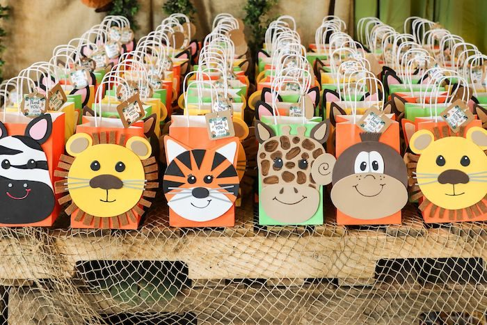 Jungle Safari Animal Favor Bags from a Jungle Safari Birthday Party on Kara's Party Ideas | KarasPartyIdeas.com (46)