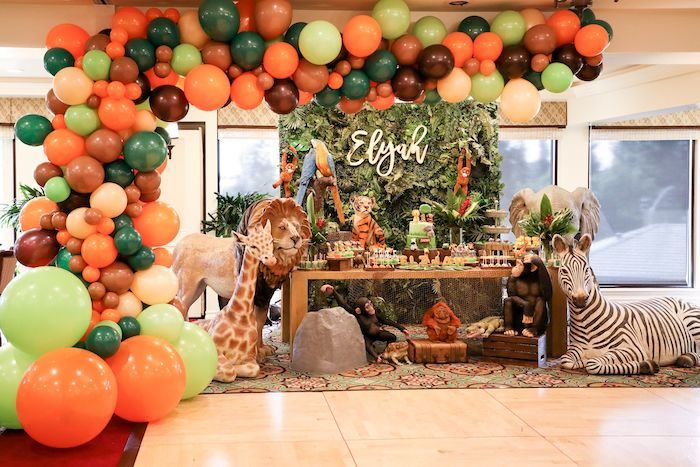 Jungle Safari Birthday Party on Kara's Party Ideas | KarasPartyIdeas.com (5)
