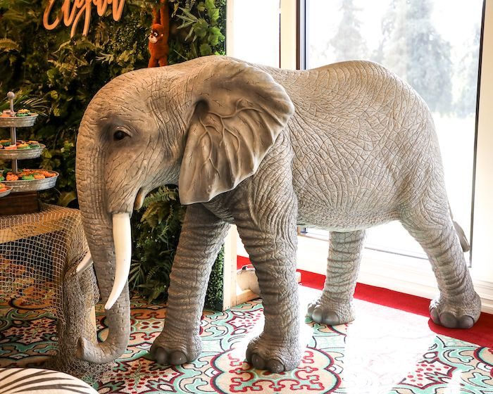 Elephant Prop from a Jungle Safari Birthday Party on Kara's Party Ideas | KarasPartyIdeas.com (40)