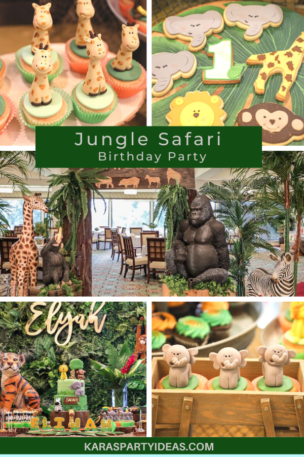 Jungle Safari Birthday Party via Kara's Party Ideas - KarasPartyIdeas.com