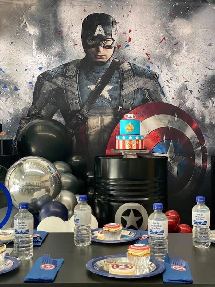 Lifelike Modern Avengers + Captain America Birthday Party on Kara's Party Ideas | KarasPartyIdeas.com (12)