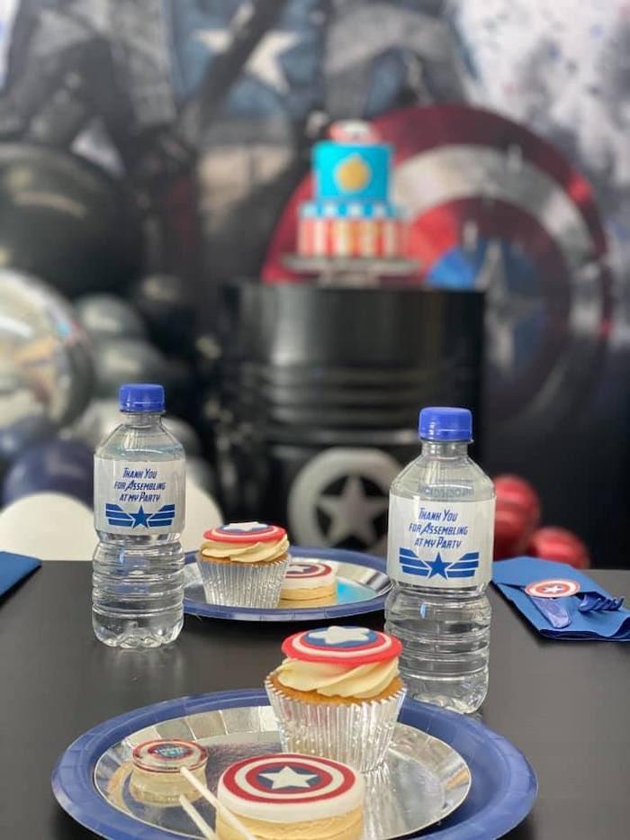 Lifelike Modern Avengers + Captain America Birthday Party on Kara's Party Ideas | KarasPartyIdeas.com (10)