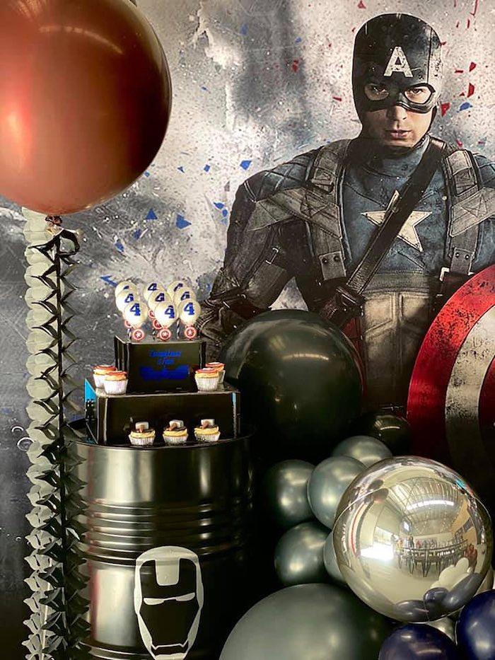 Lifelike Modern Avengers + Captain America Birthday Party on Kara's Party Ideas | KarasPartyIdeas.com (9)