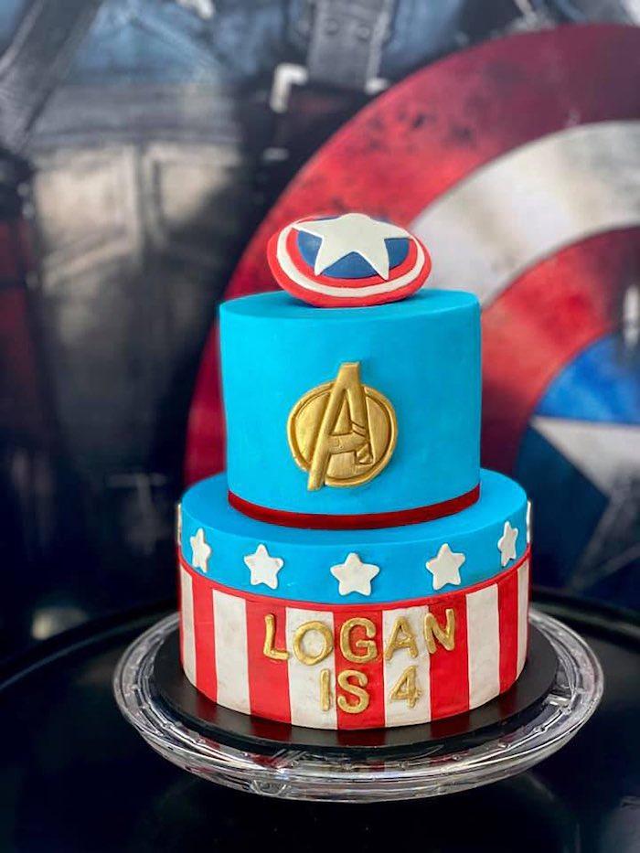 Lifelike Modern Avengers + Captain America Birthday Party on Kara's Party Ideas | KarasPartyIdeas.com (8)