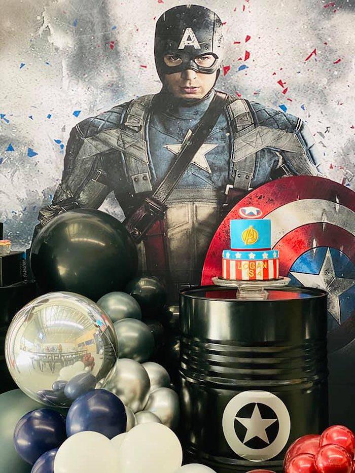 Lifelike Modern Avengers + Captain America Birthday Party on Kara's Party Ideas | KarasPartyIdeas.com (7)