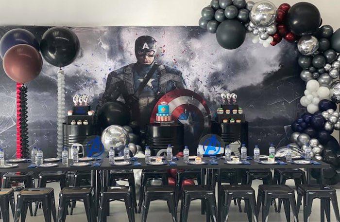 Lifelike Modern Avengers + Captain America Birthday Party on Kara's Party Ideas | KarasPartyIdeas.com (5)
