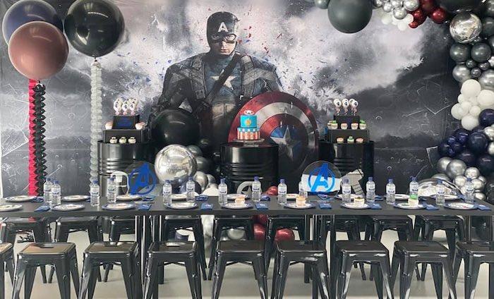 Lifelike Modern Avengers + Captain America Birthday Party on Kara's Party Ideas | KarasPartyIdeas.com (4)