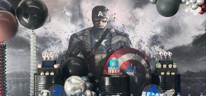 Lifelike Modern Avengers + Captain America Birthday Party
