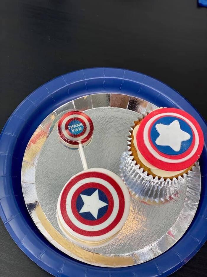 Lifelike Modern Avengers + Captain America Birthday Party on Kara's Party Ideas | KarasPartyIdeas.com (23)