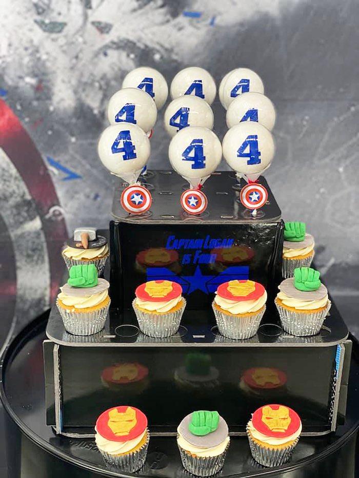Lifelike Modern Avengers + Captain America Birthday Party on Kara's Party Ideas | KarasPartyIdeas.com (18)