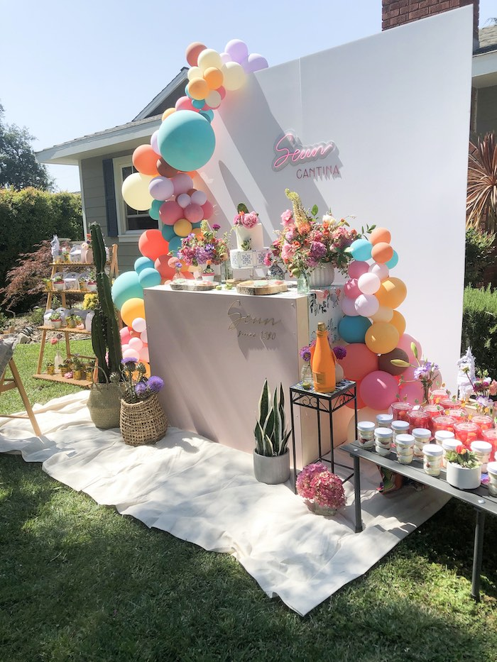 Mexican Themed Dessert Table from a Mexican Cantina Drive-By Birthday Party on Kara's Party Ideas | KarasPartyIdeas.com (15)