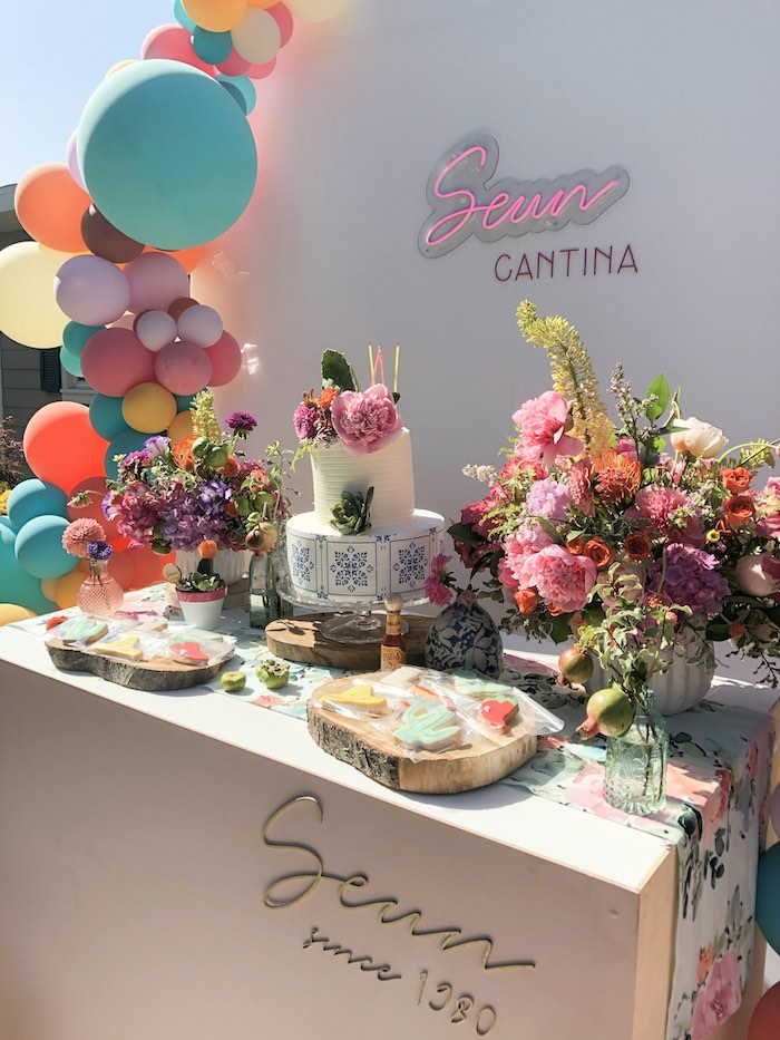Dessert Table from a Mexican Cantina Drive-By Birthday Party on Kara's Party Ideas | KarasPartyIdeas.com (6)