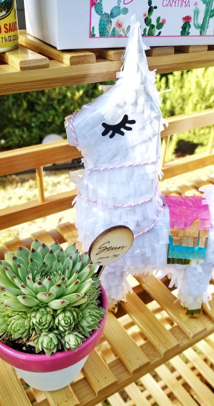 Llama Pinata from a Mexican Cantina Drive-By Birthday Party on Kara's Party Ideas | KarasPartyIdeas.com (23)