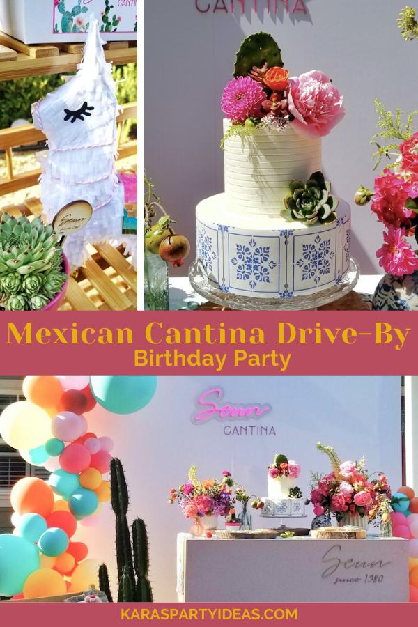 Mexican Cantina Drive-By Birthday Party via Kara's Party Ideas - KarasPartyIdeas.com