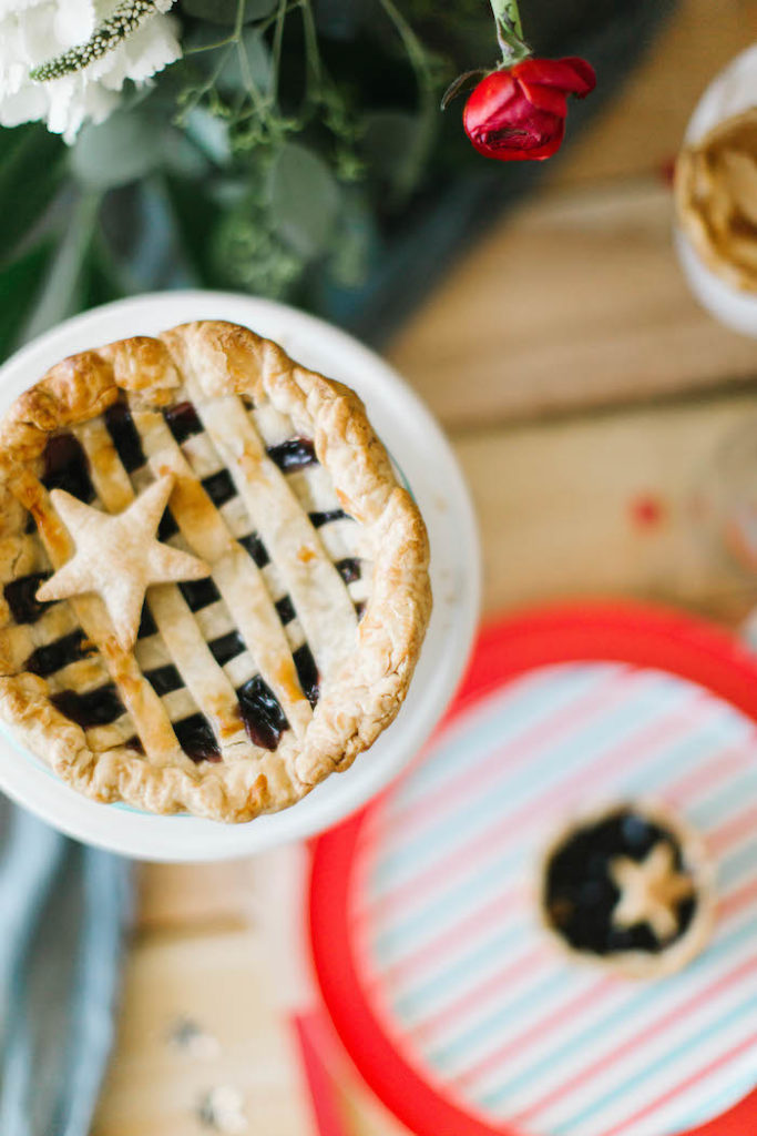 Mini Patriotic Pie from a Modern Classic July 4th Party on Kara's Party Ideas | KarasPartyIdeas.com (23)